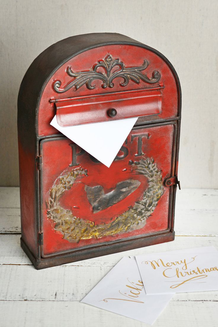 290 best home decor images on pinterest buffets centerpieces vintage home decor is my favorite this antique red metal mailbox letter post box is