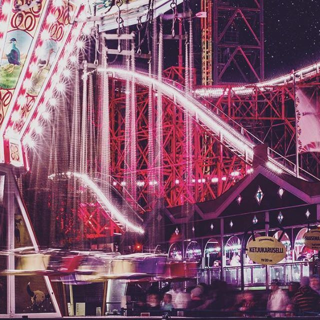 Magic funfair #linnanmäki #valokarnevaalit #funfair #night #lights #amusementpark #photography