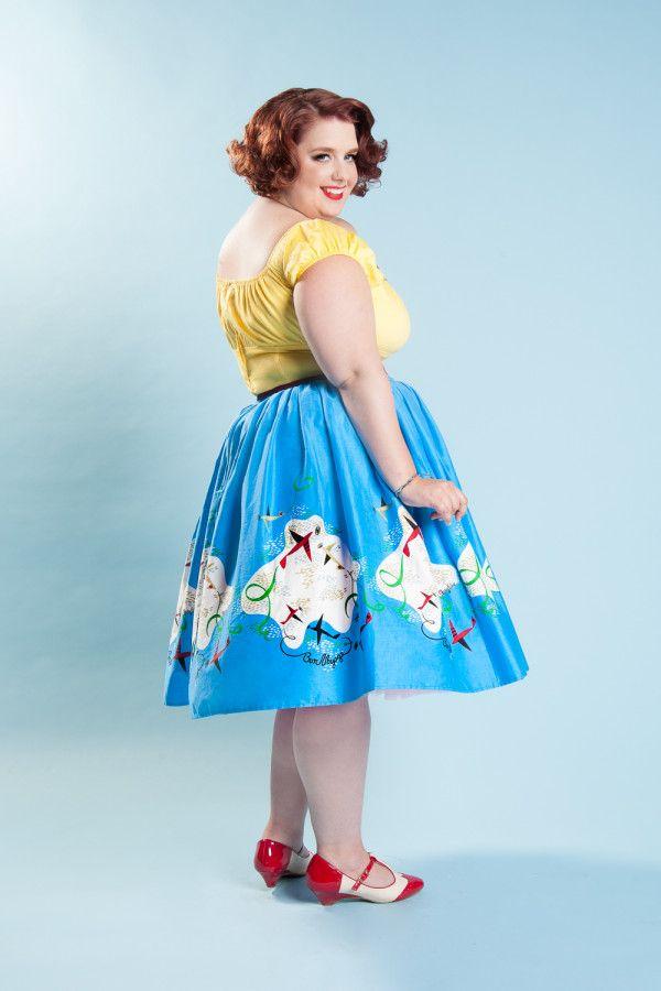 Дженни юбка плюс размер в Мэри Блэр Planes Пограничный Печать