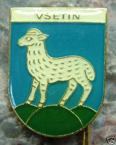 Vsetin Lamb Sheep City Heraldic Crest Pin | eBay