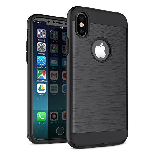 iPhone X Case A-Maker Shockproof Full Protective Anti-Scratch Resistant of Heavy Duty Dual Layer Rugged Case for Apple iPhone X (Black)