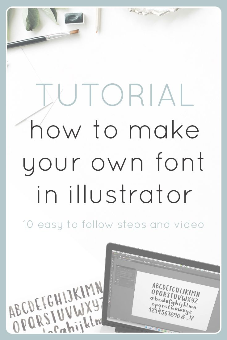 A step by step approach on how to make your own font within illustrator. Quick and Comprehensive for those familiar with the software