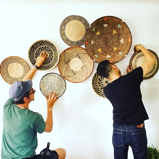 African Basket Gallery Wall