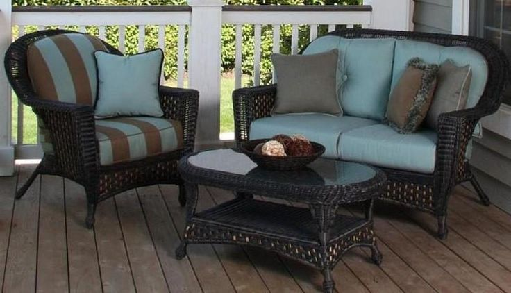 Outdoor Black Vintage Stained Steel Conversation Set With Green Pillow Also  Patio Sets on Sale for Your Lounger Outdoor Dining Area
