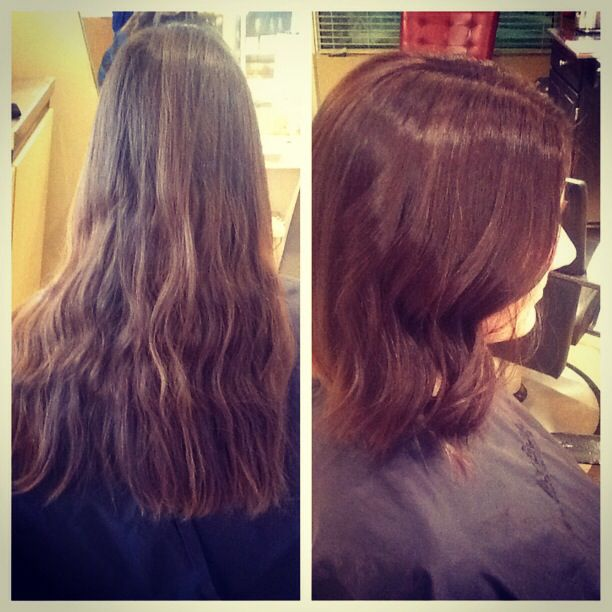 A wonderful before and after done by our stylist Emily