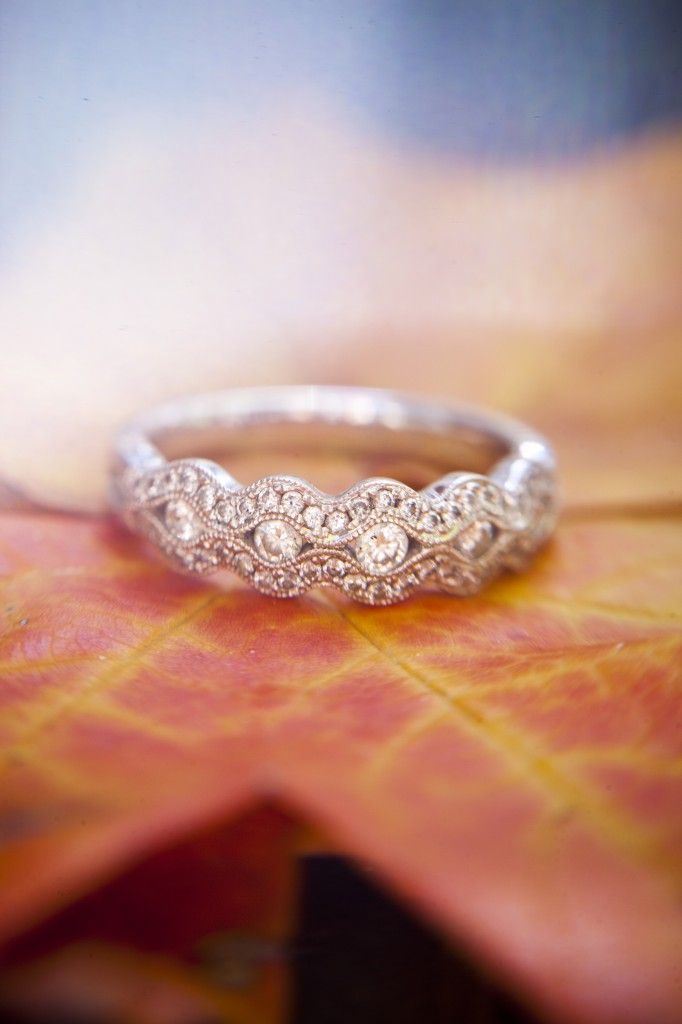 This is my #engagementring. It's from #Helzberg diamonds and I loooove it. Yay for #fall colors
