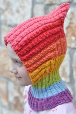 Waldorf gnome hat by Waldorf Mama. Layalya pattern on Etsy and Ravelry. We love making this hat!