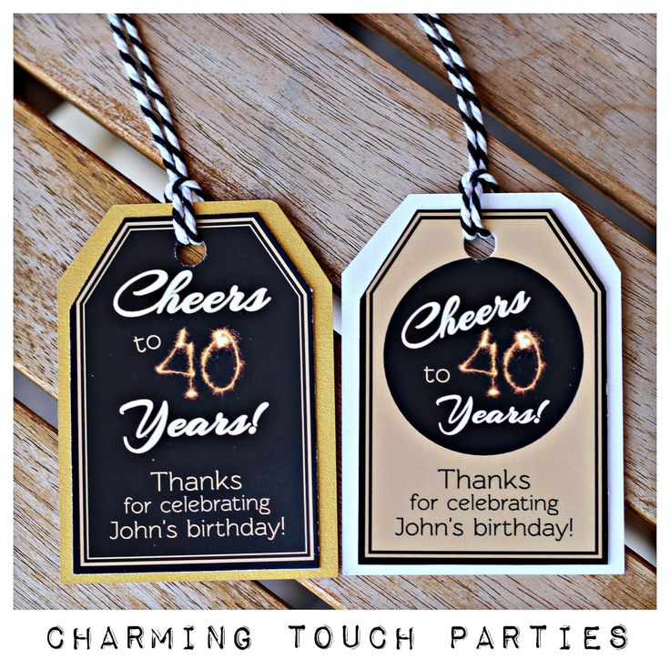 40th birthday birthday decor set of 18 black and gold for Decoration 40 years old party
