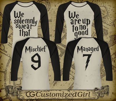 Solemnly Swear Girls 1 Junior Fit Bella 3/4 Sleeve Raglan T-Shirt