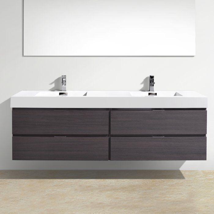 tenafly 72 wall mount double bathroom vanity set small on ikea bathroom vanities id=15195