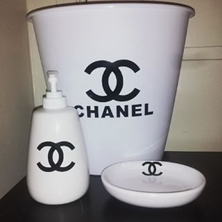 Coco Chanel Bathroom Accessories Google Search Dorm