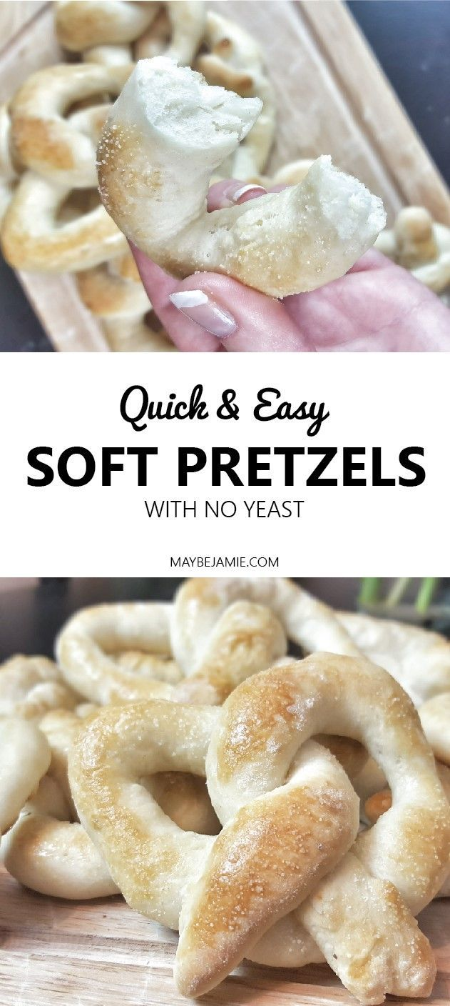 No yeast! Not deep fried!. Super easy soft pretzels you can make at home!