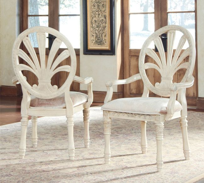 Ortanique D707 03A Set Of 2 Dining Room Arm Chairs