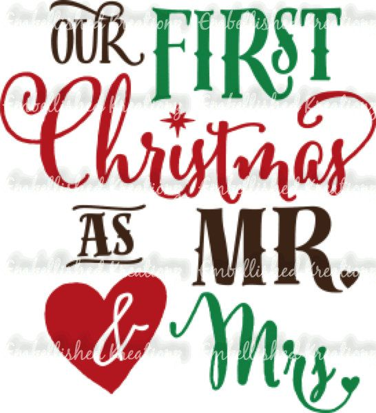 Christmas our first christmas as mr and mrs vinyl decal christmas ornament 2016 1st christmas married bride gift groom gift wedding gift