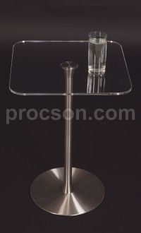"""A1 table- 40cm/16""""- clear top 