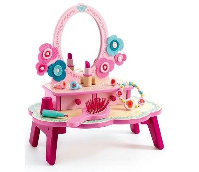 Rosa sminkebord med speil fra Djeco