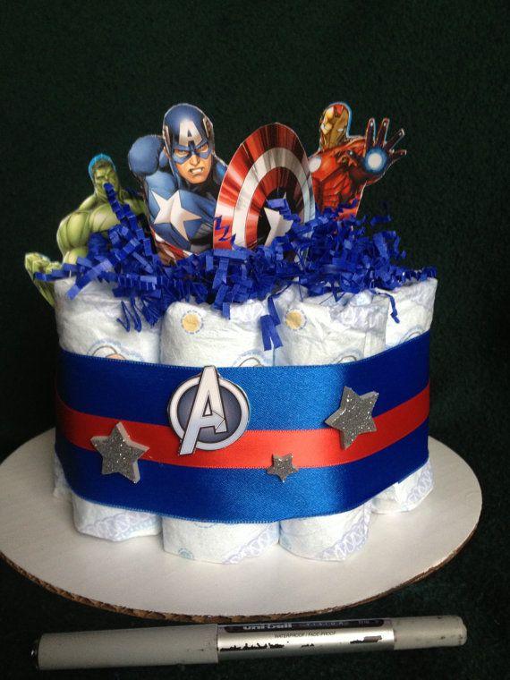 diaper cake marvel avengers baby shower by giftsbyiriswithlove