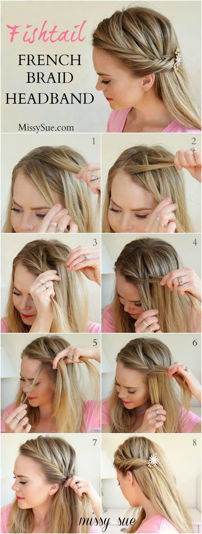 Fishtail French Braid Headband Missy Sue Blog