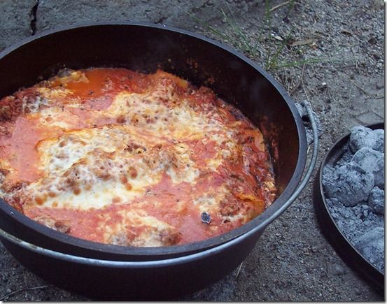the Prairie Cottage: Dutch Oven Lasagna Recipe