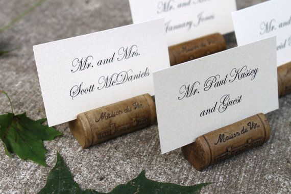 Wine Cork Place Card or Photo Holder  Set of 50 by decadentdesigns, $137.50
