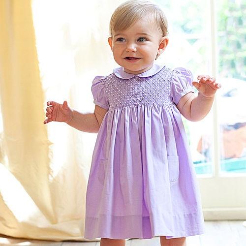 sweet OE Smocked Dress on sweet baby girl