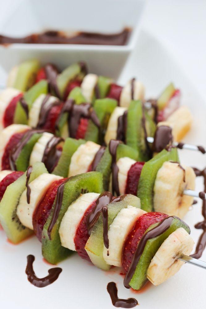 Fruit Salad Kabobs w/Sweet Sunflower Balsamic Dip Sunflower Chocolate Dip