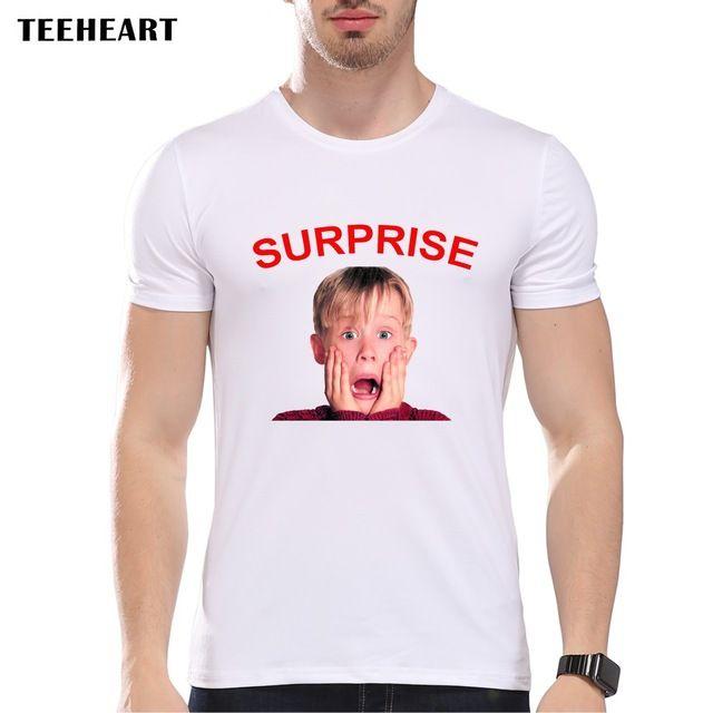 TEEHEART Men's Cute Kid Expression  Print T-Shirt  Men Summer Modal T shirt  Hipster Tees la217