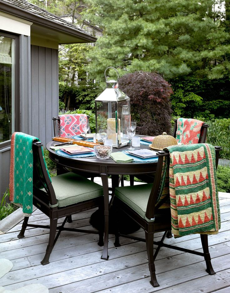 30 Transitional Outdoor Dining Areas to help ease your way into fall: Cozy and Boho. Decoration Trends 2017