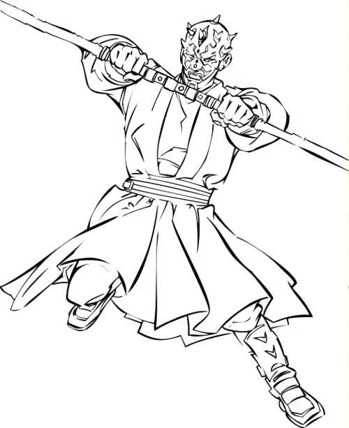 Darth Maul Coloring Pages Maul Coloring Page Star Wars Darth ...