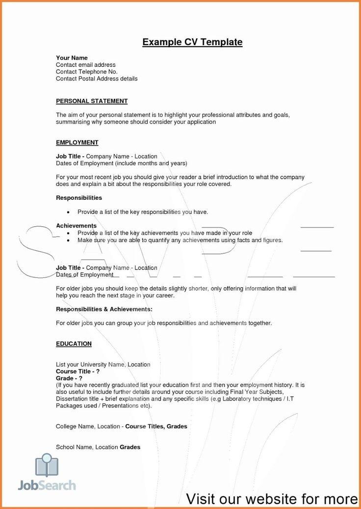 Example CV Template 2020 job resume pdf job resume pdf