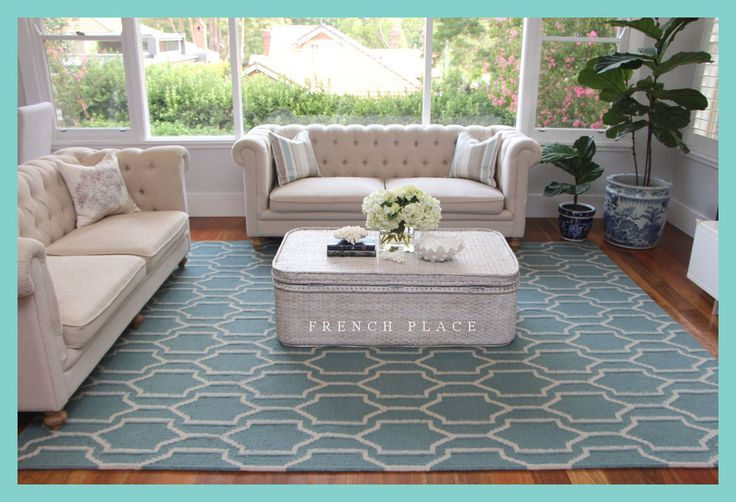 """Our """"Hamptons Bay"""" rug is a gorgeous hand-woven flat weave wool rug which looks stunning in both Hamptons Style and Coastal interiors. With a keen eye for detail and a passion for design, we create both stand out and classic pieces to enhance your living space. 