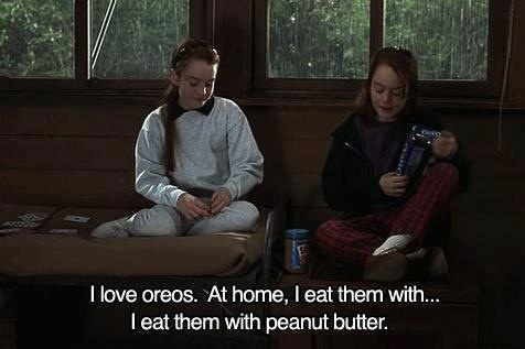 Image result for peanut butter oreos parent trap