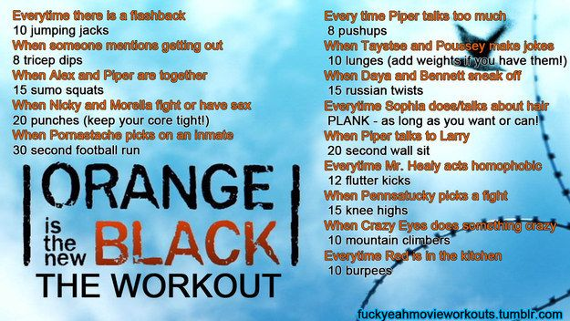 Orange Is the New Black | 43 Workouts That Allow You To Watch An Ungodly Amount Of Television