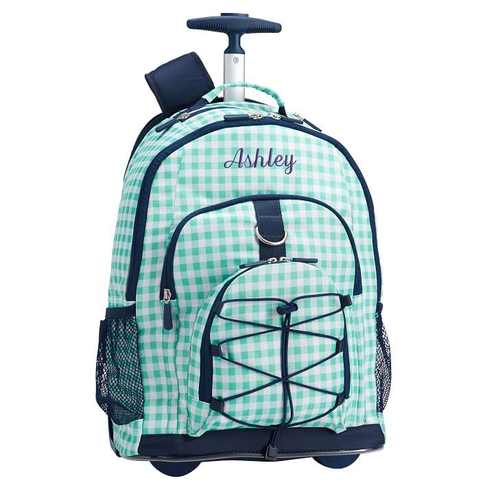 Gear-Up Pool Gingham Rolling Backpack