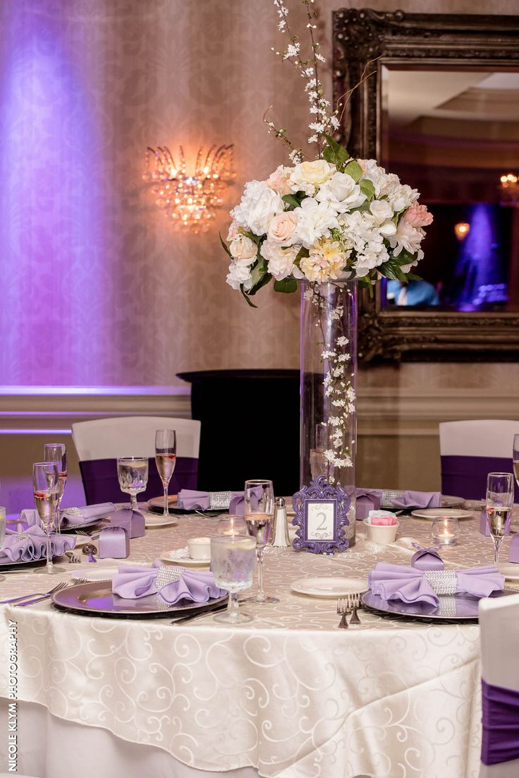 Floral centerpieces are included in your wedding pacakge