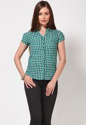 Jealous 21 Green Checked Shirt Online Shopping Store