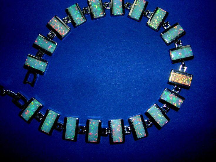 Armband viele strahlende rechteckige Feueropale in 925 Sterling Silber | Uhren & Schmuck, Echtschmuck, Armbänder | eBay!