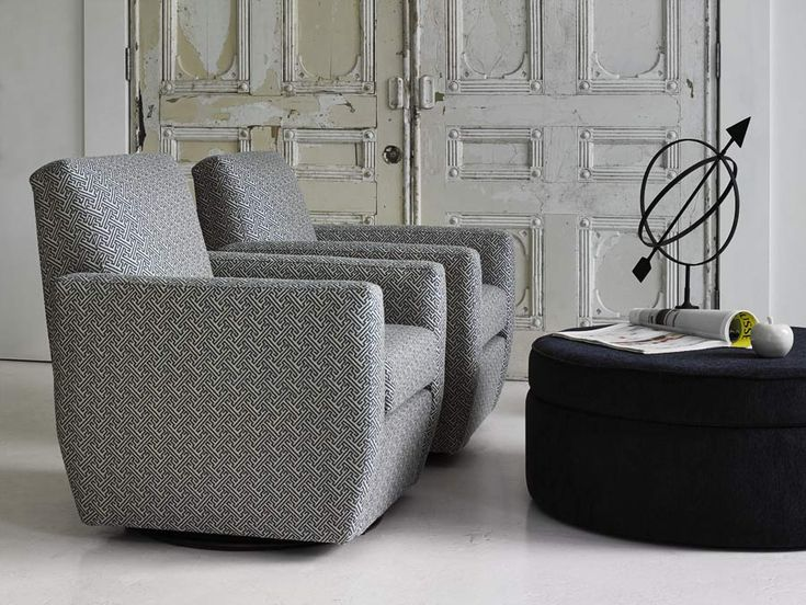 #Avalon swivel chairs with the Rondo ottoman