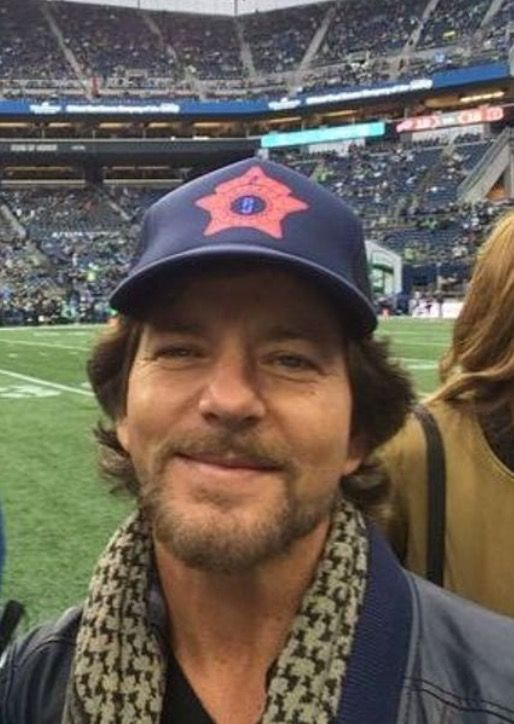 Eddie Vedder at the Seattle Seahawks game Nov 20, 2016