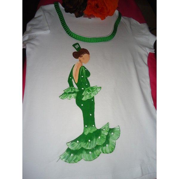 camisetas pintadas a mano flamencas - Buscar con Google