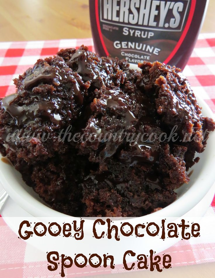 The Country Cook: Crock Pot Chocolate Spoon Cake