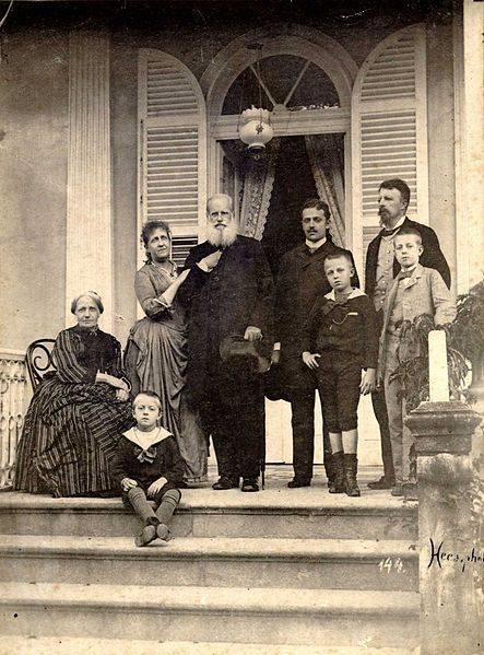 Brasil... The last picture of the Imperial Family in Brazil, 1889.
