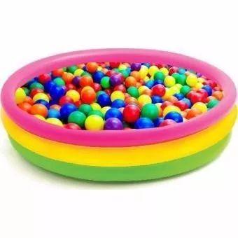 piscina intex inflable 114 x 24 cm + 100 pelotas de colores