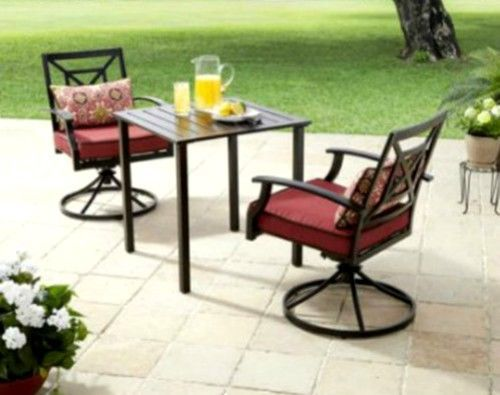 Outdoor Bistro High Table & 2Swivel Chairs Patio 3pc Aluminium Furniture Set Red #BetterHomeGardens