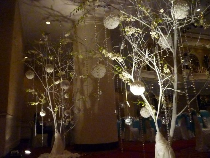 Superb White Tree Branches Wedding Decoration Idea For Cool Indoor Interior  Design   Use J/
