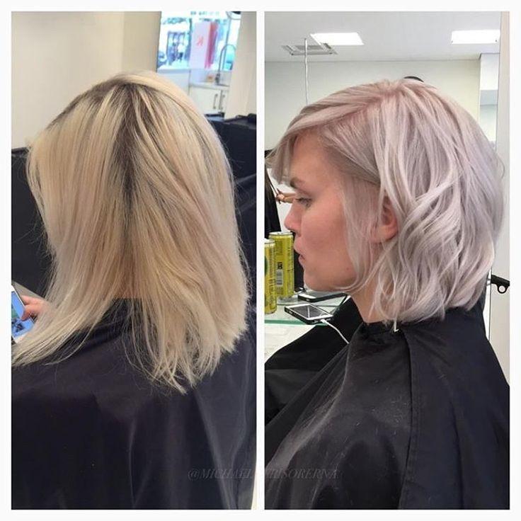 En makeover med både ny frisyr och färg, så roligt!  #shorthair #page #pastelhair