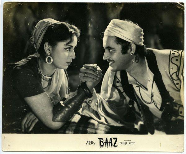 "myluckyerror: "" BAAZ (1953), Lobby Card, Geeta Bali and Guru Dutt """