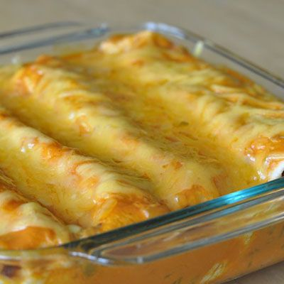 The key to these enchiladas is the sauce – quick and easy with only two ingredients!
