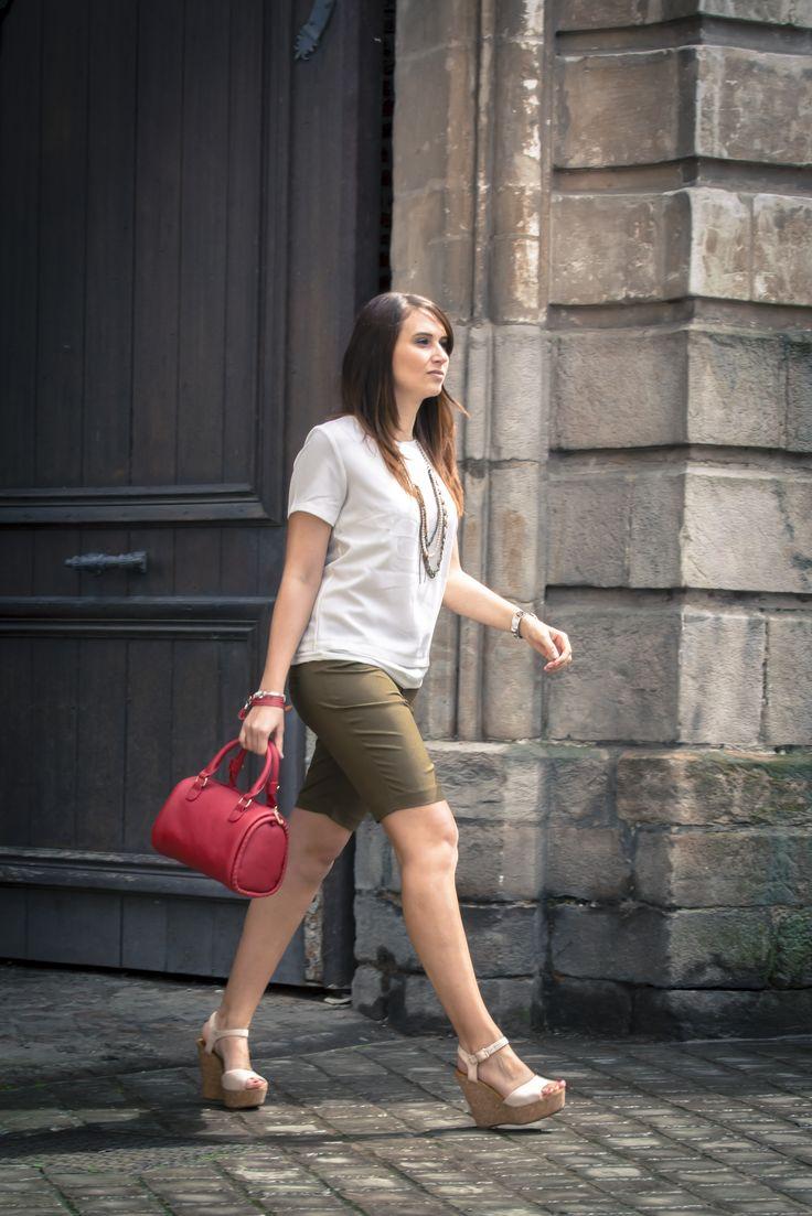 Look /  Street look / Drapeau Pays de Galle // vert, blanc, rouge