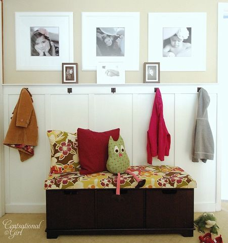 Perfect for next to my front door!!!!: Cute Coats, Owl Pillows, Coats Hooks, Rooms Storage, Photo Display, Mud Rooms, Boards And Batten, Front Entrance, Front Entry